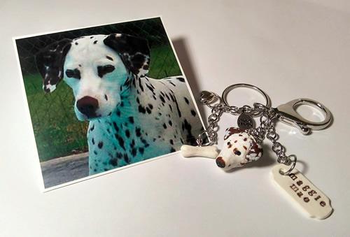 Kat's Kreative Klay Custom Dog Custom Keychain