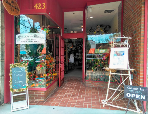 A Walk in the Woods in Historic Downtown Hendersonville